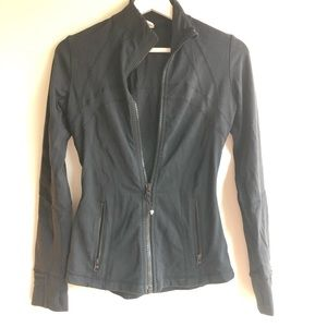 Women's classic black lululemon zip up jacket